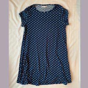 Nordstrom polka dot T-shirt dress